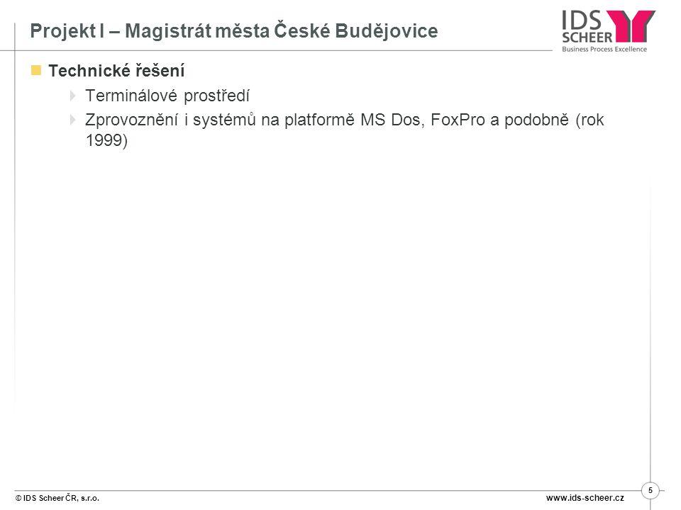 Projekt I – Magistrát města České Budějovice