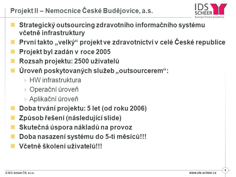 Projekt II – Nemocnice České Budějovice, a.s.
