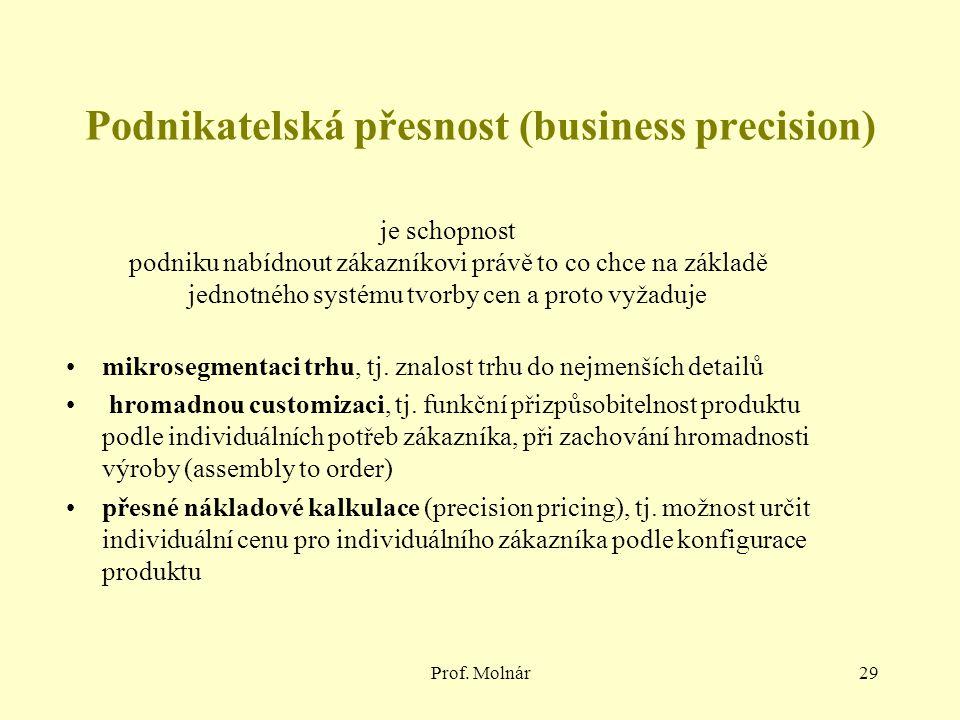 Podnikatelská přesnost (business precision)