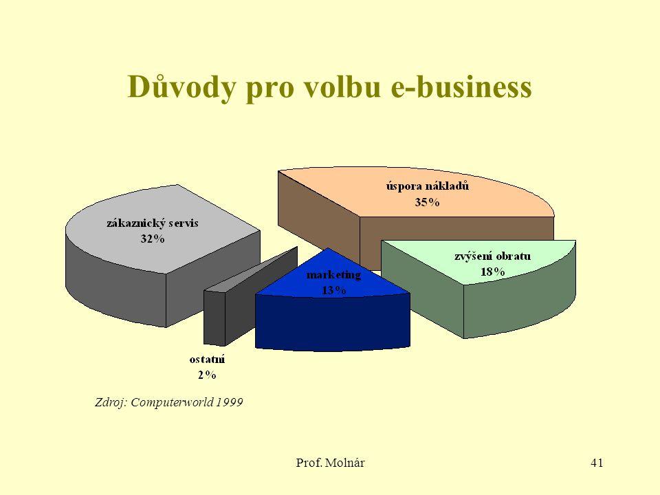 Důvody pro volbu e-business