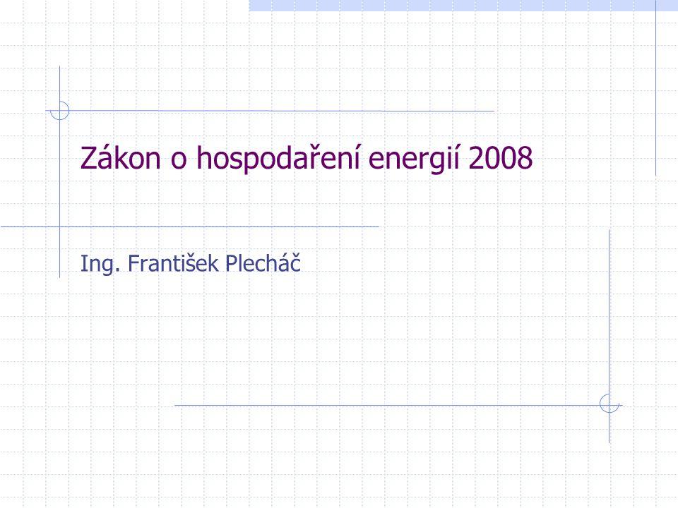 Zákon o hospodaření energií 2008