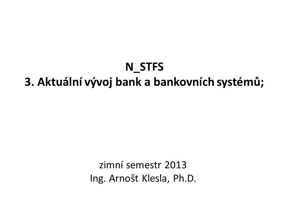 N_STFS 3. Aktuální vývoj bank a bankovních systémů;