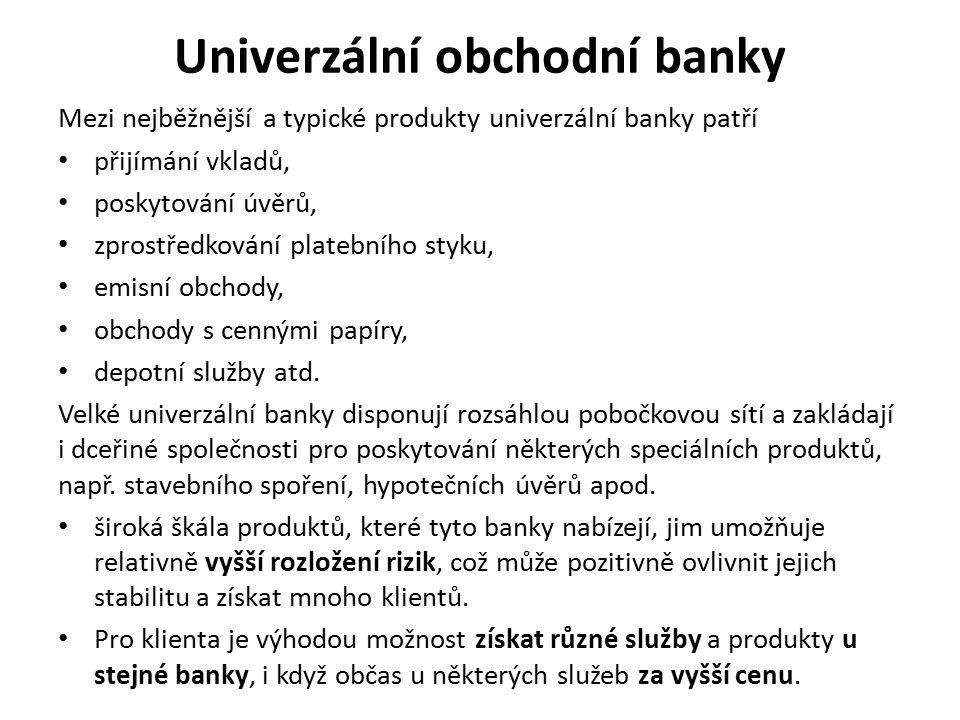 Univerzální obchodní banky