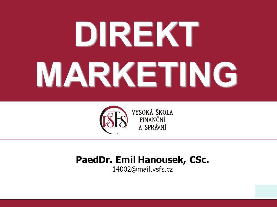 PaedDr. Emil Hanousek, CSc.