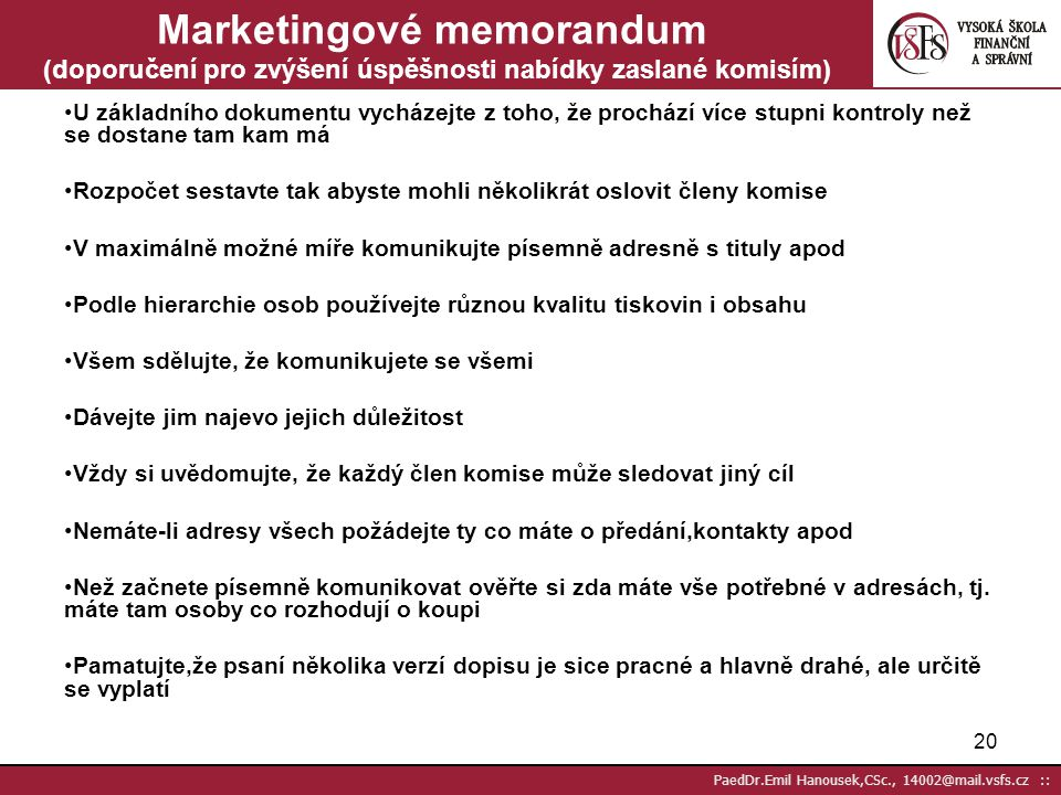 Marketingové memorandum