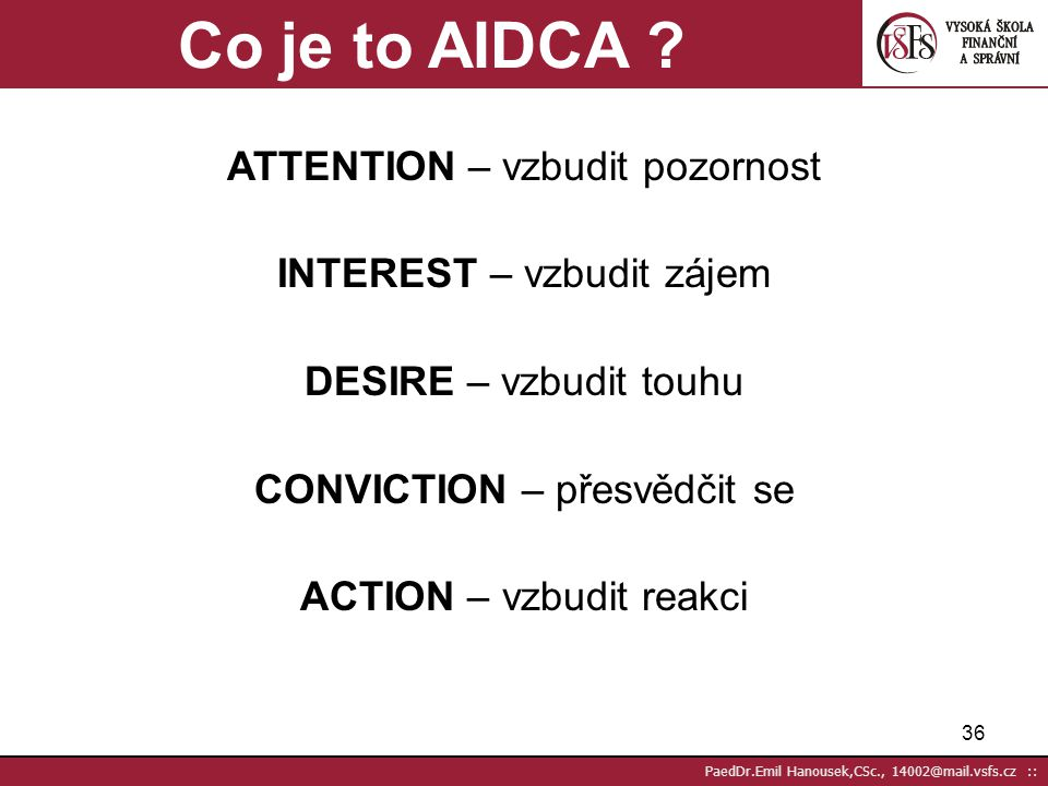 Co je to AIDCA ATTENTION – vzbudit pozornost