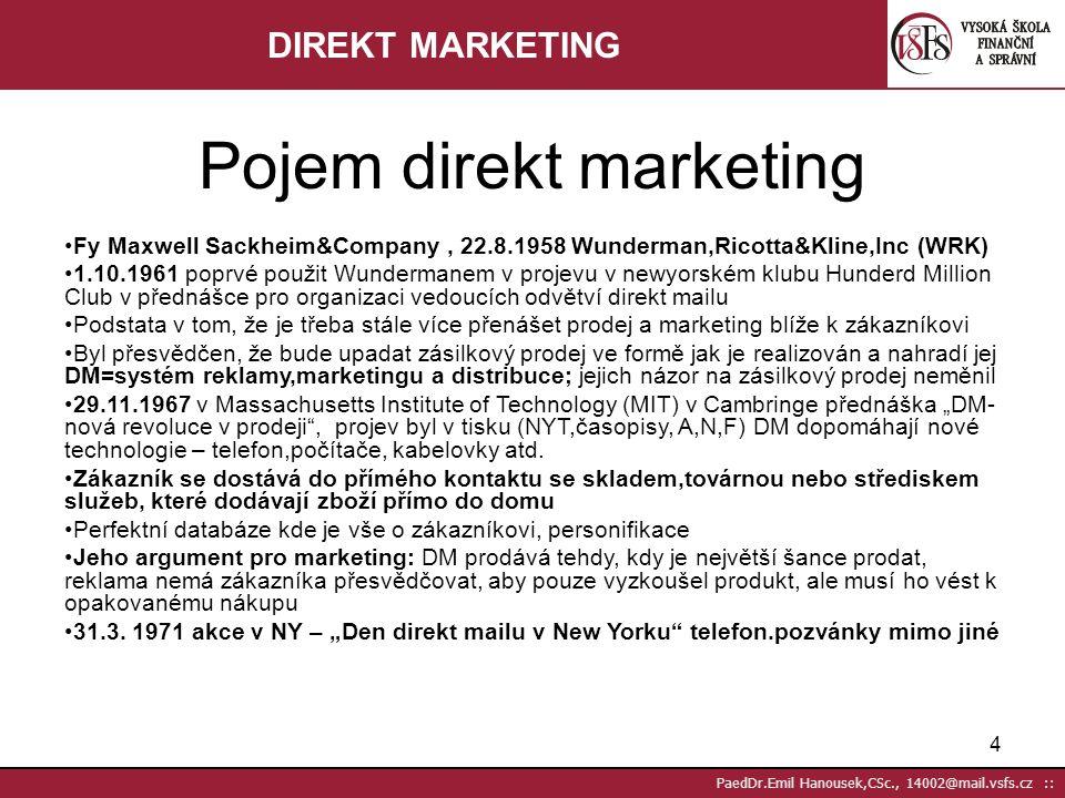 Pojem direkt marketing