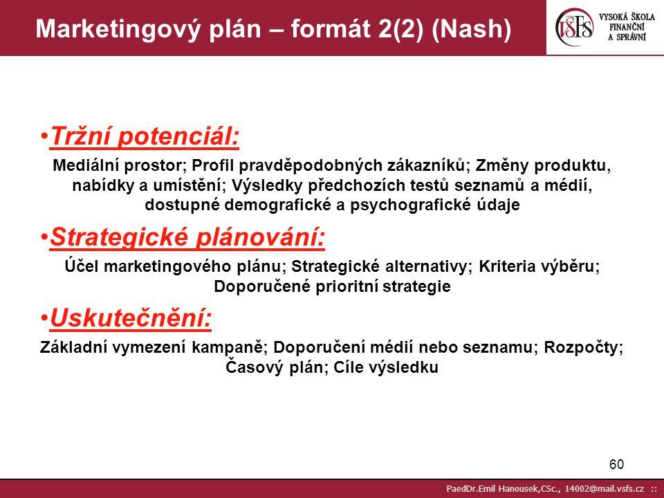 Marketingový plán – formát 2(2) (Nash)