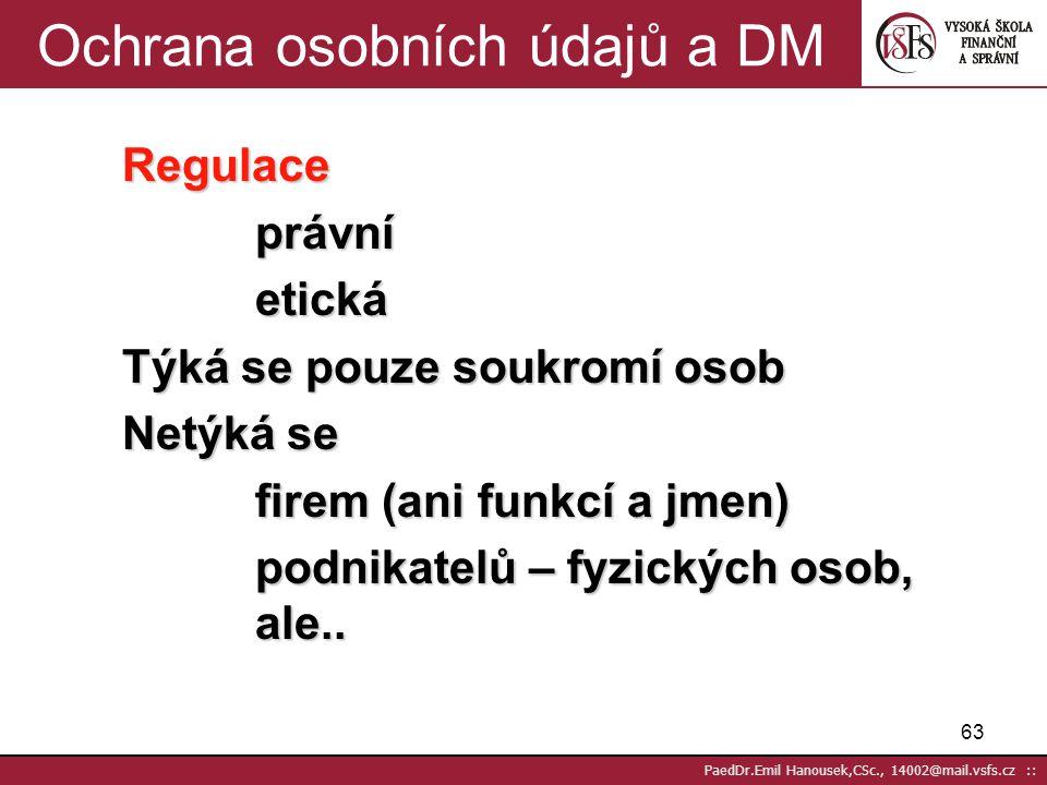 Ochrana osobních údajů a DM