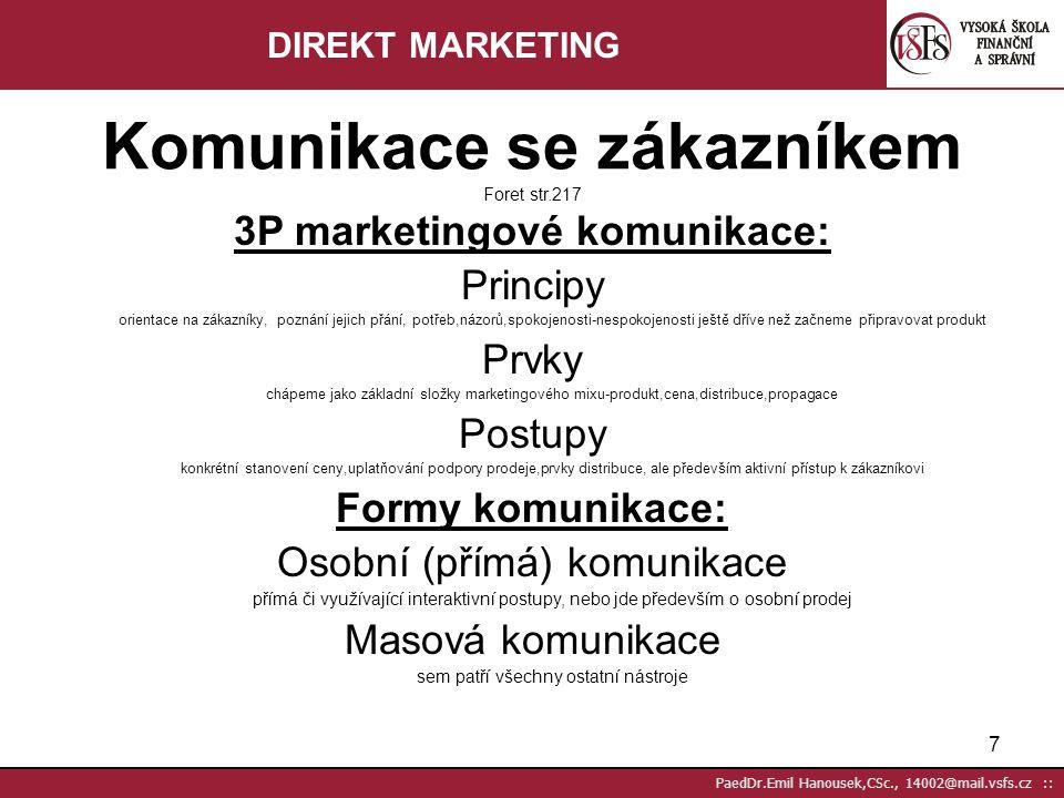 3P marketingové komunikace:
