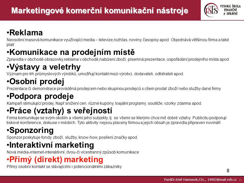 Marketingové komerční komunikační nástroje