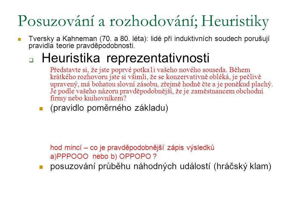 Posuzování a rozhodování; Heuristiky