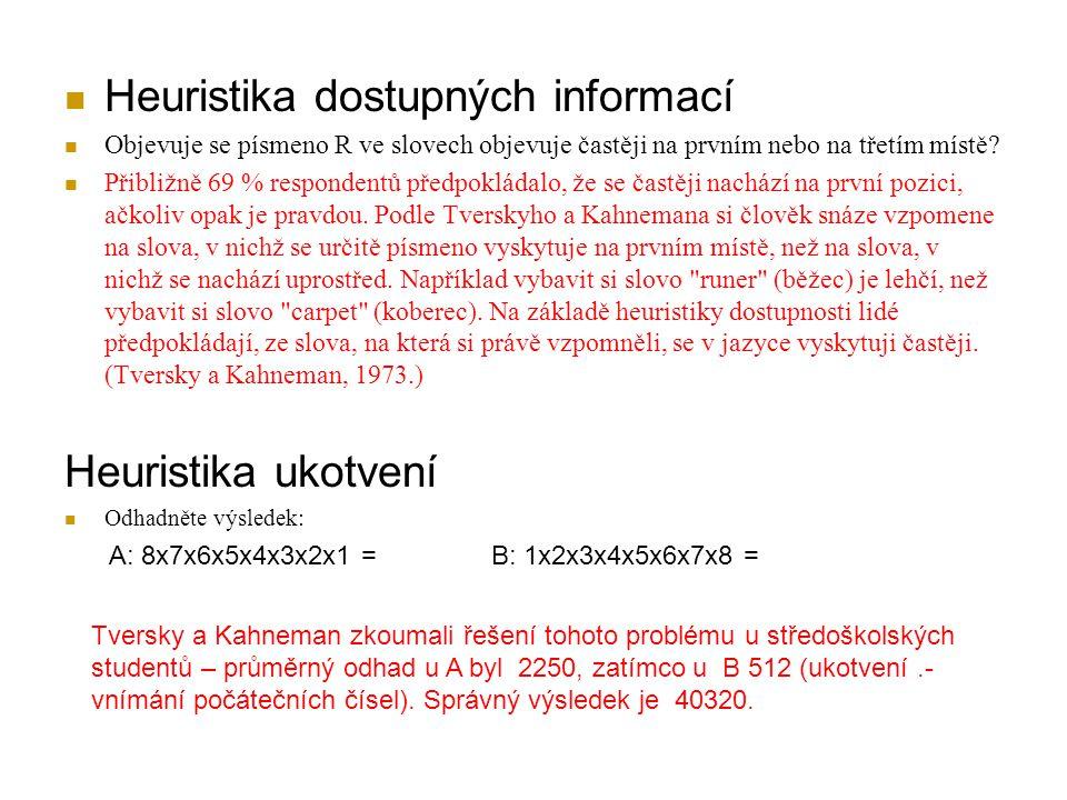Heuristika dostupných informací