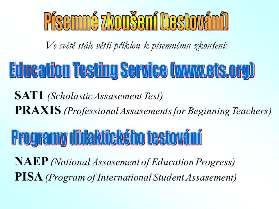 Písemné zkoušení (testování)