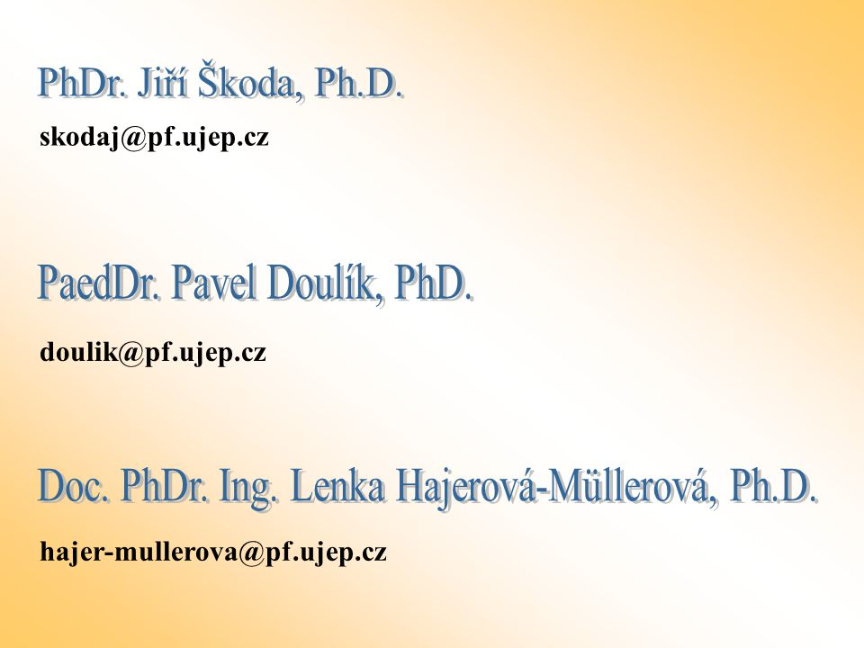 PaedDr. Pavel Doulík, PhD.