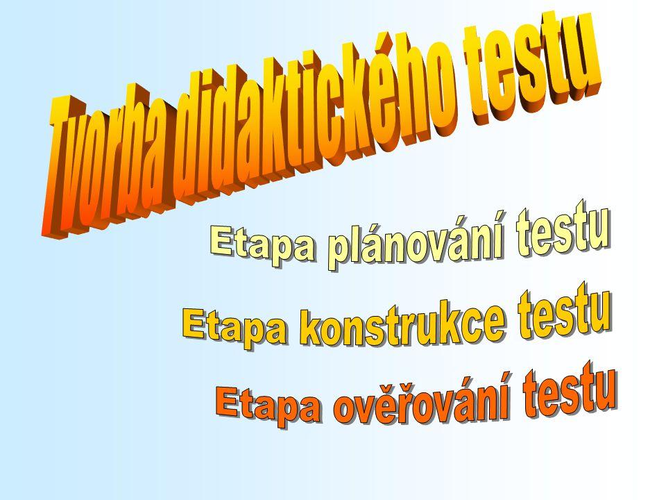 Tvorba didaktického testu