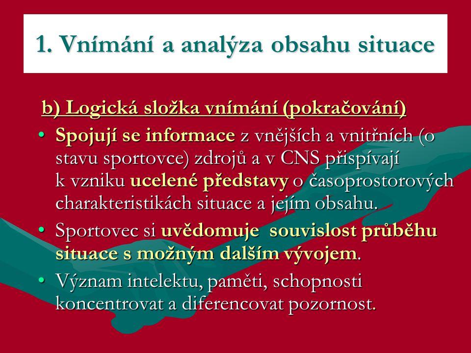 1. Vnímání a analýza obsahu situace