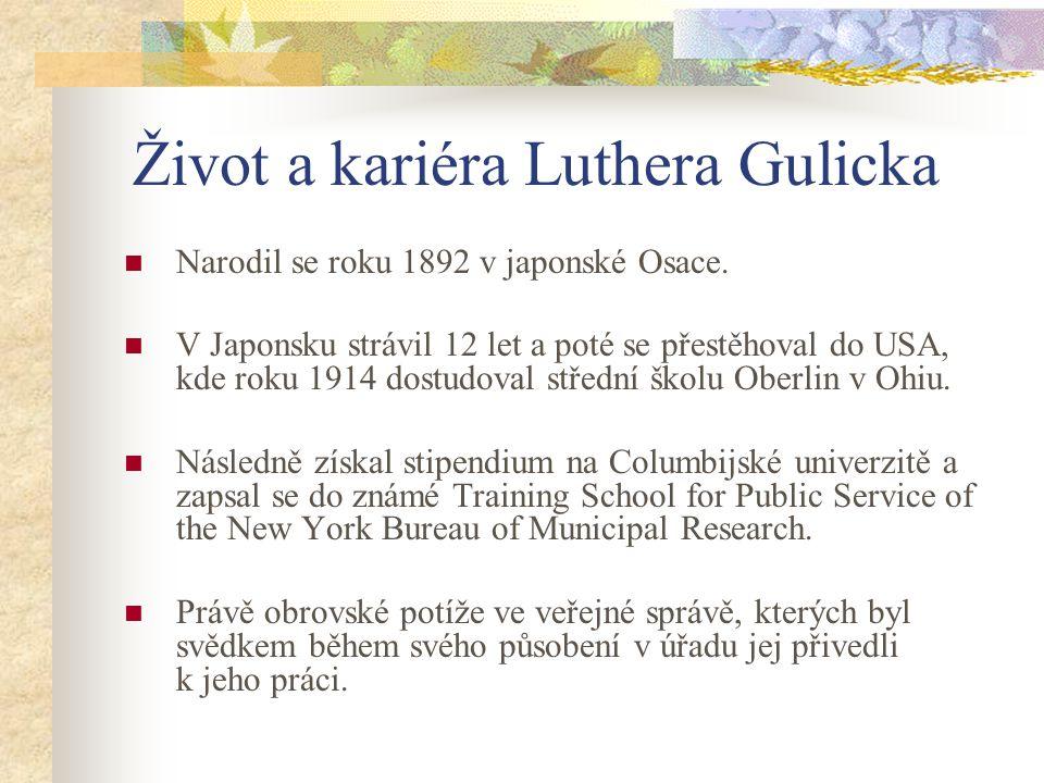 Život a kariéra Luthera Gulicka