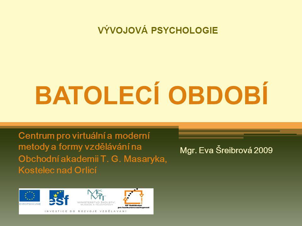 VÝVOJOVÁ PSYCHOLOGIE BATOLECÍ OBDOBÍ