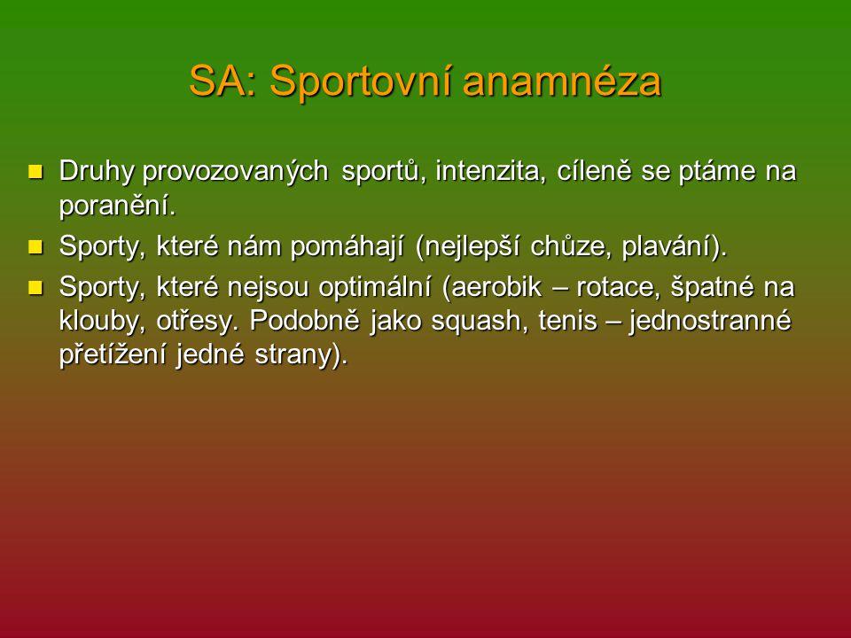 SA: Sportovní anamnéza