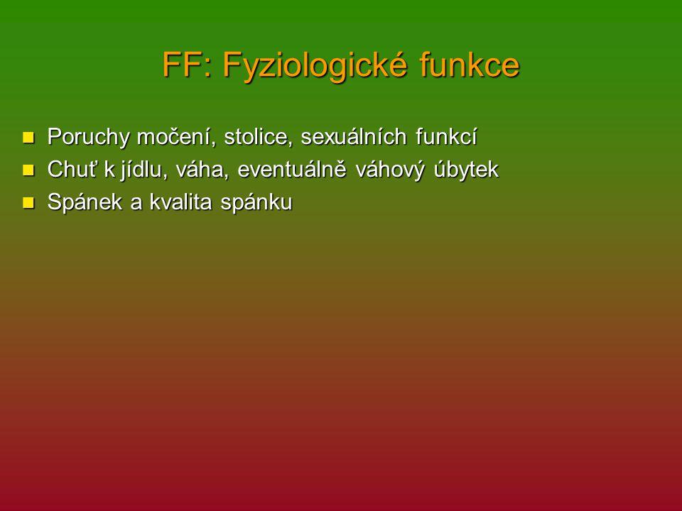 FF: Fyziologické funkce