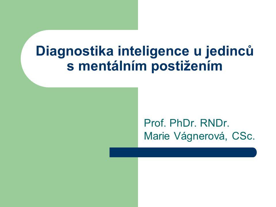 Diagnostika inteligence u jedinců s mentálním postižením