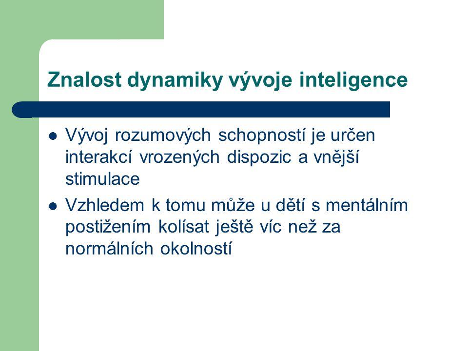 Znalost dynamiky vývoje inteligence