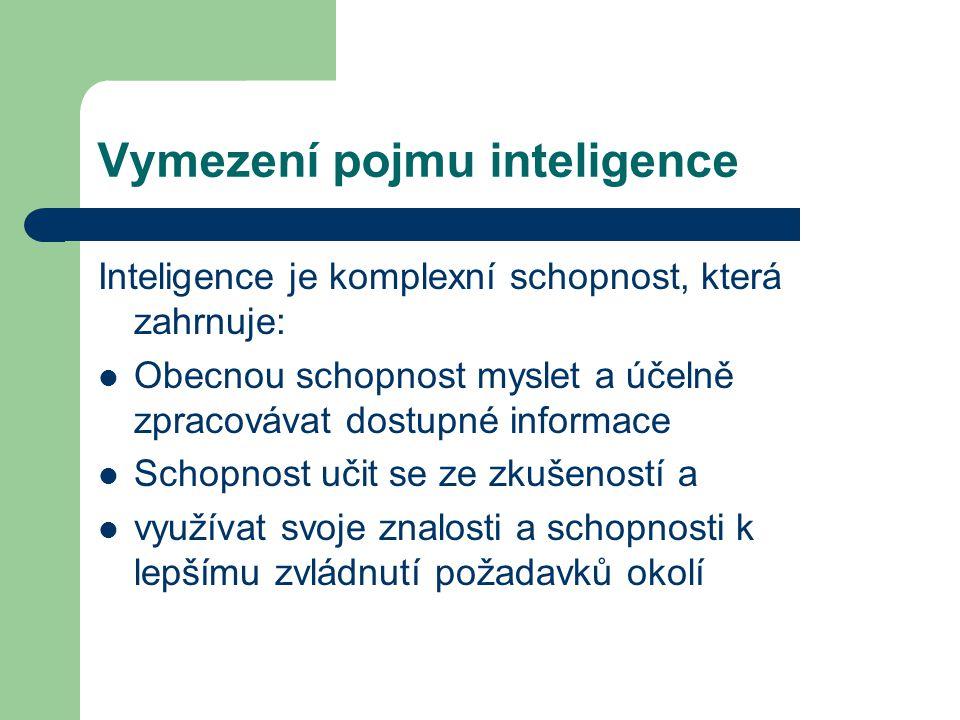 Vymezení pojmu inteligence