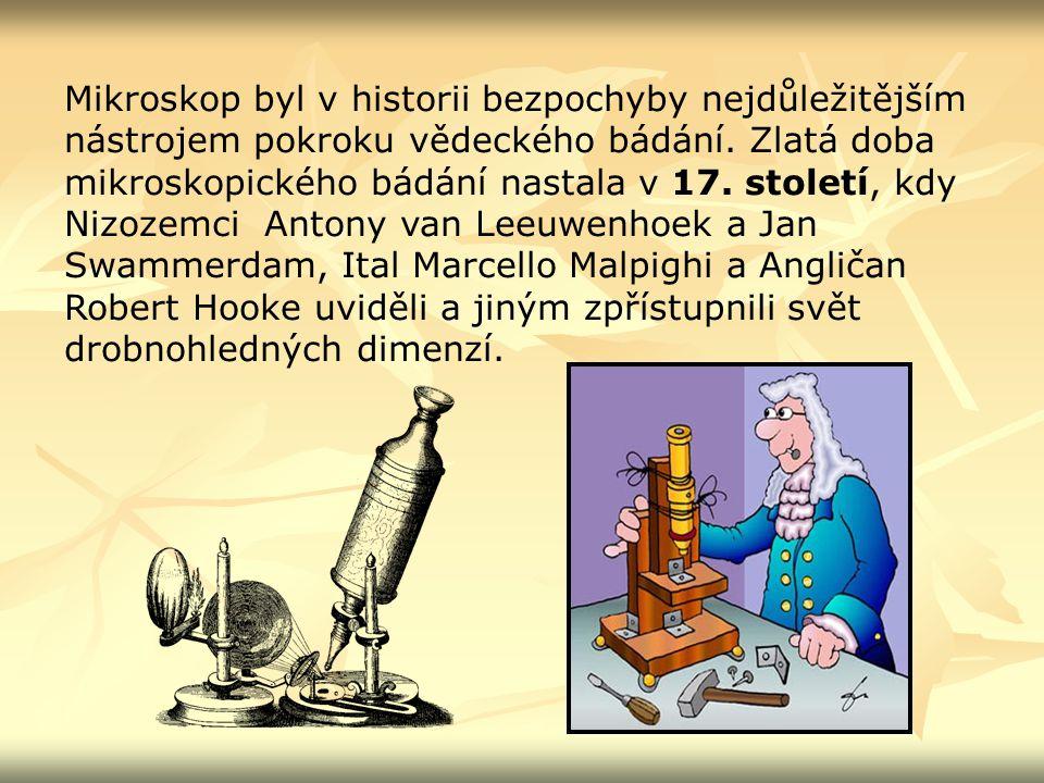 Mikroskop byl v historii bezpochyby nejdůležitějším nástrojem pokroku vědeckého bádání.