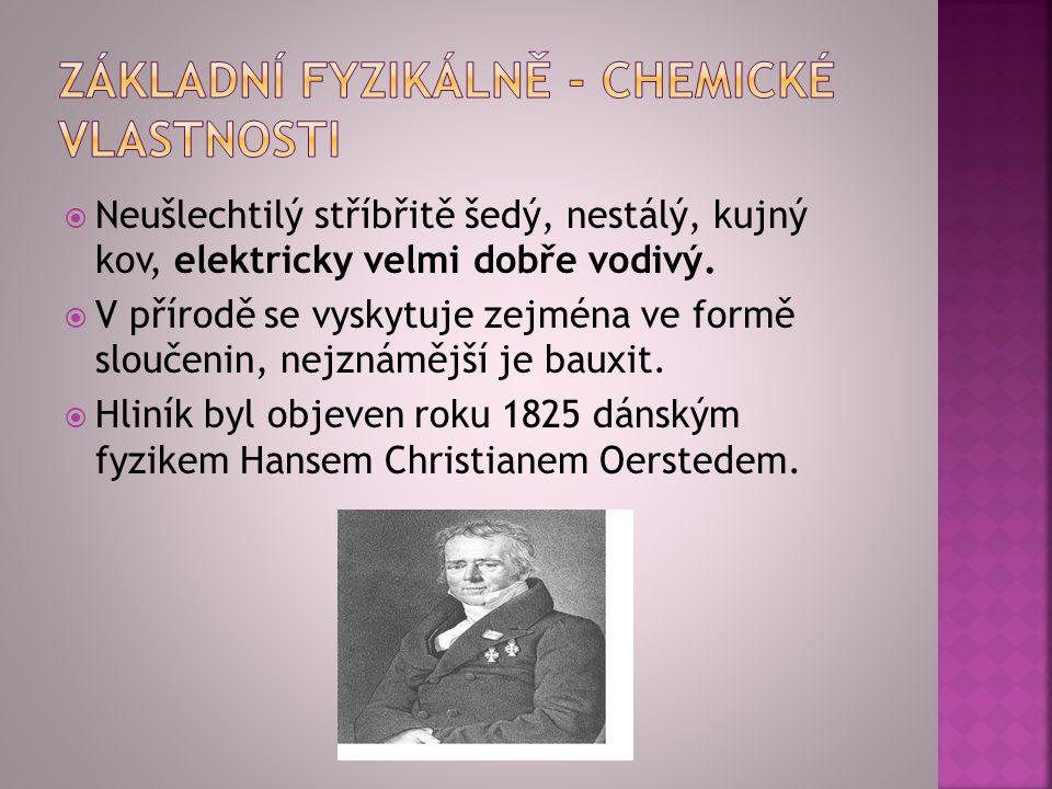 Základní fyzikálně - chemické vlastnosti