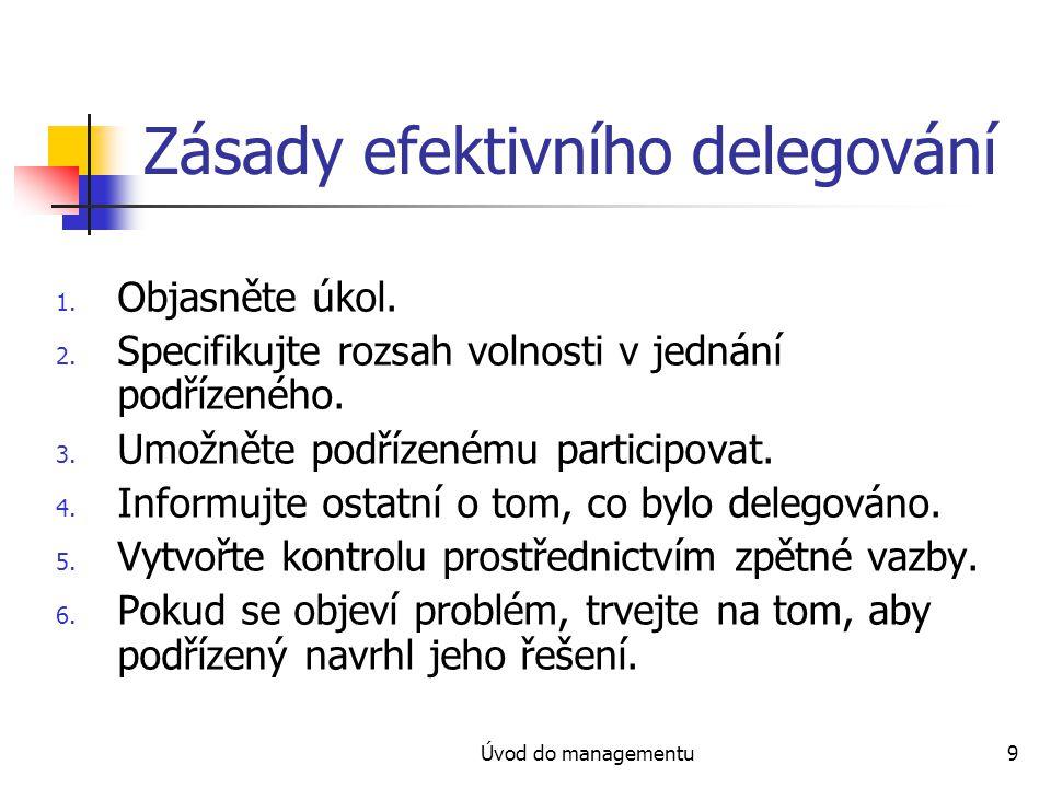 Zásady efektivního delegování