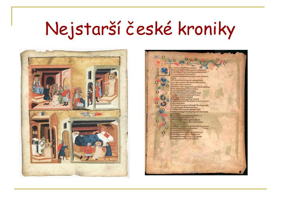 Nejstarší české kroniky