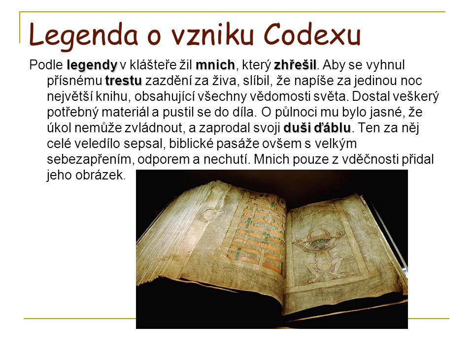 Legenda o vzniku Codexu