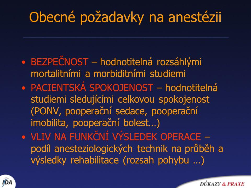 Obecné požadavky na anestézii