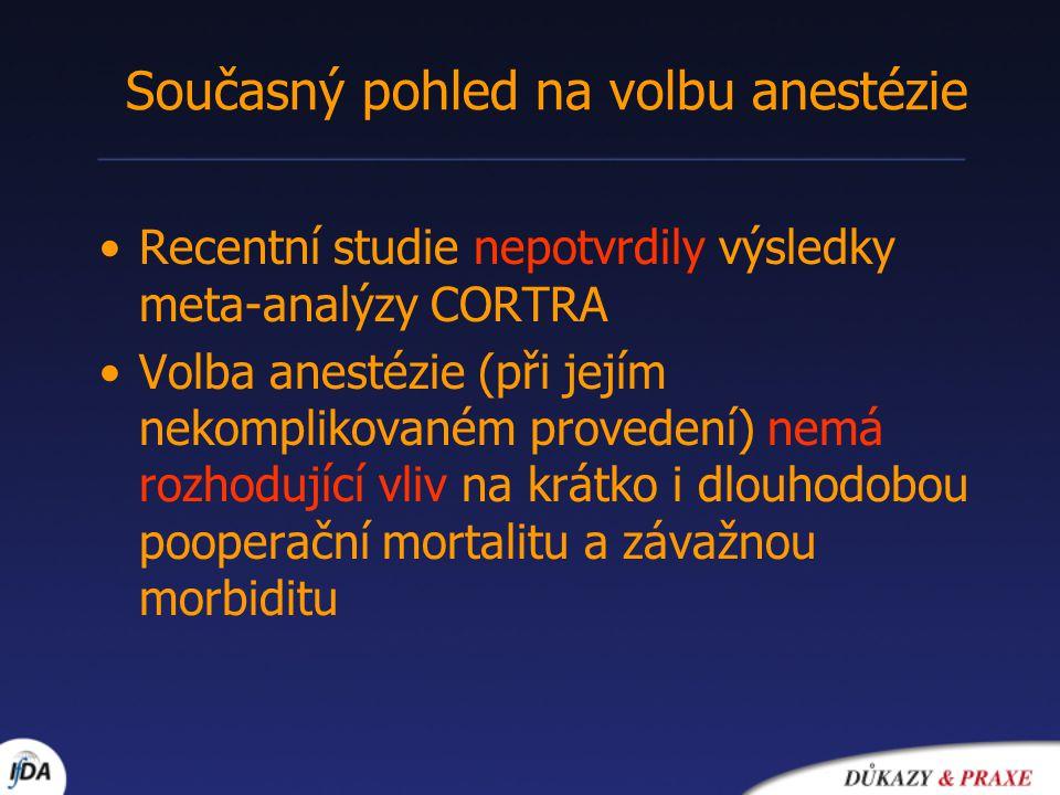 Současný pohled na volbu anestézie