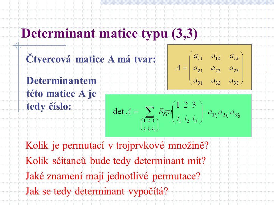 Determinant matice typu (3,3)