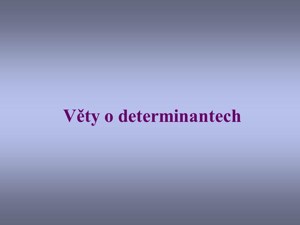 Věty o determinantech