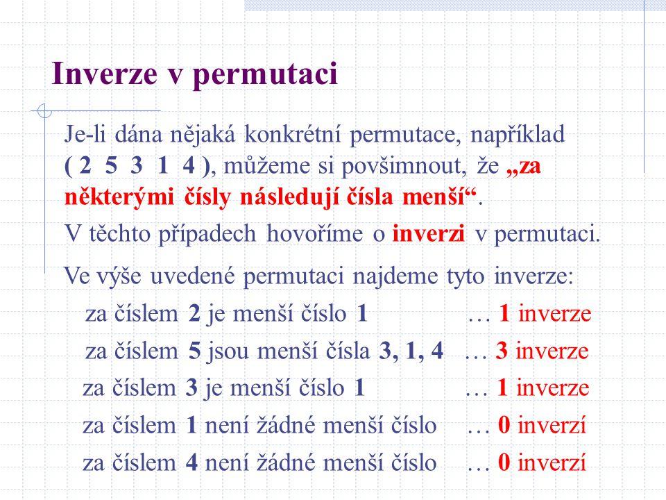 Inverze v permutaci