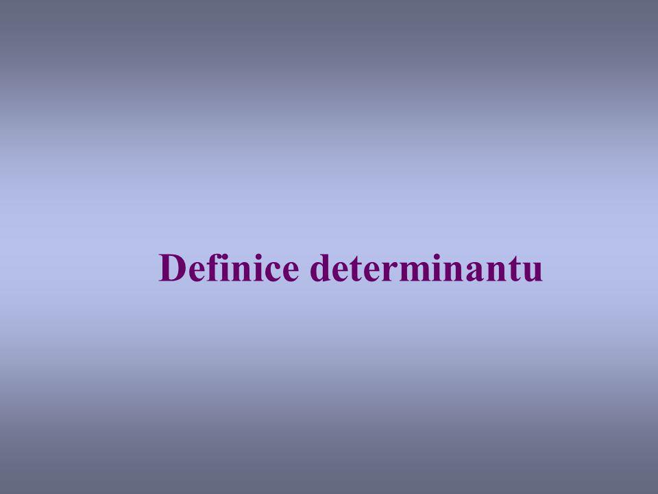 Definice determinantu