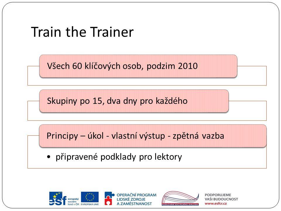 Train the Trainer Všech 60 klíčových osob, podzim 2010