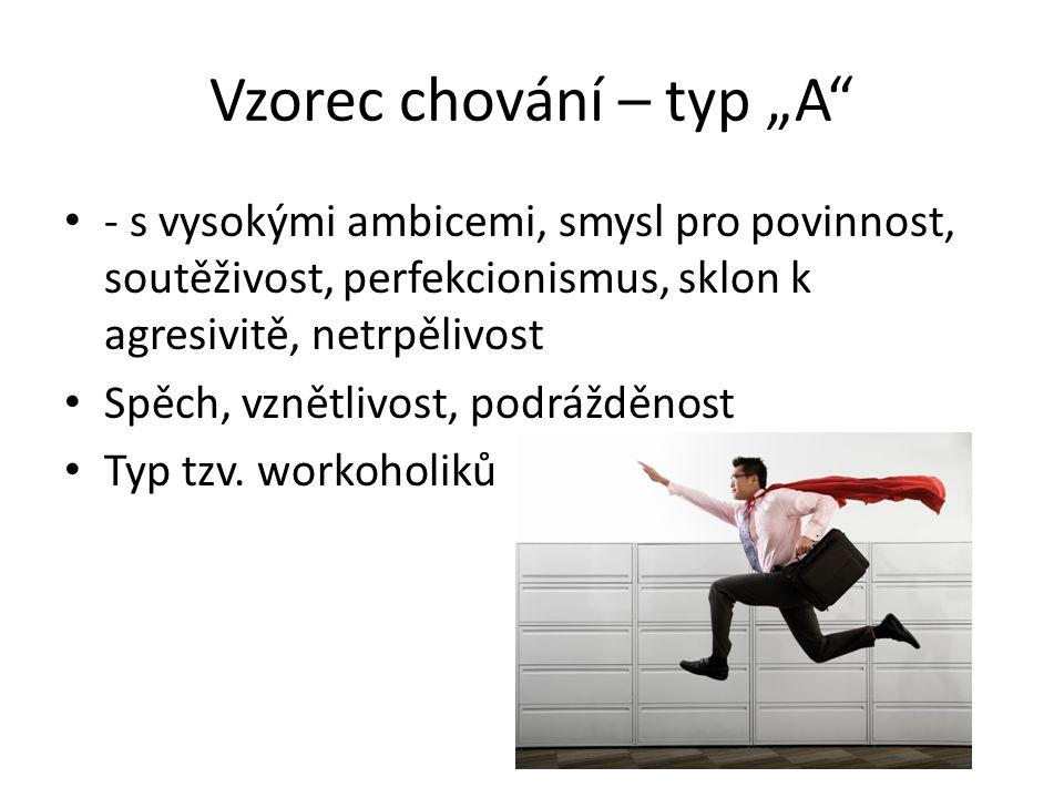 """Vzorec chování – typ """"A"""
