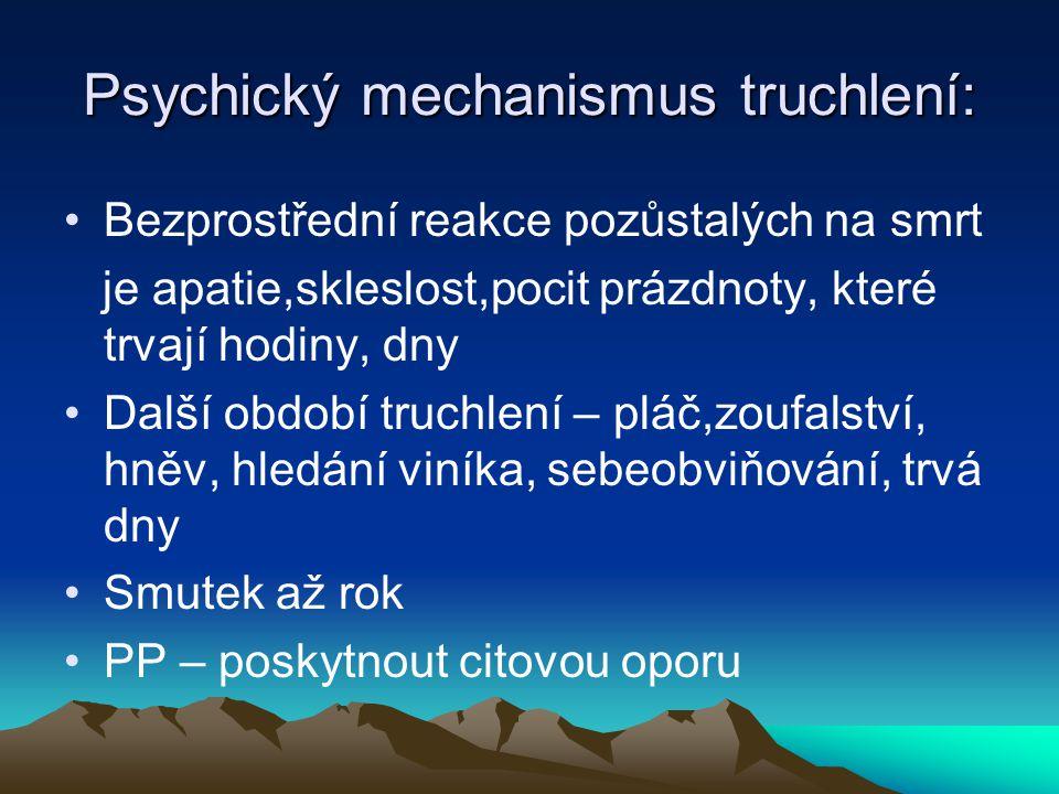 Psychický mechanismus truchlení:
