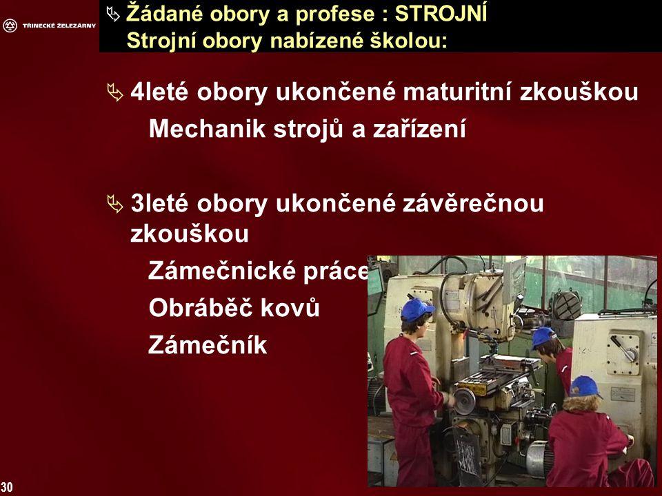 Žádané obory a profese : ELEKTRO Elektro obory nabízené školou: