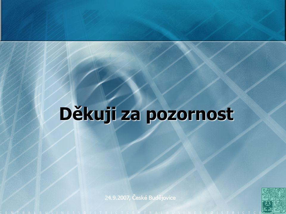 Děkuji za pozornost 24.9.2007, České Budějovice