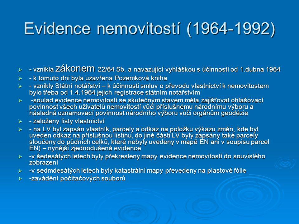 Evidence nemovitostí (1964-1992)