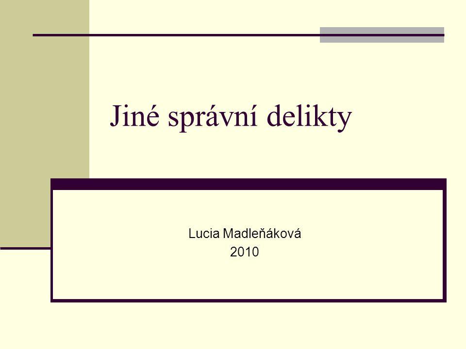 Jiné správní delikty Lucia Madleňáková 2010