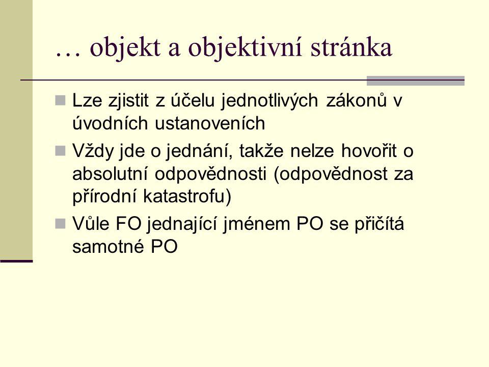 … objekt a objektivní stránka