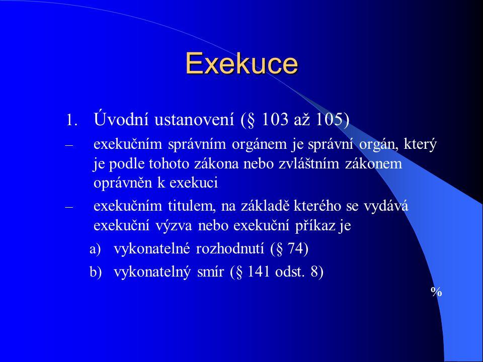 Exekuce Úvodní ustanovení (§ 103 až 105)