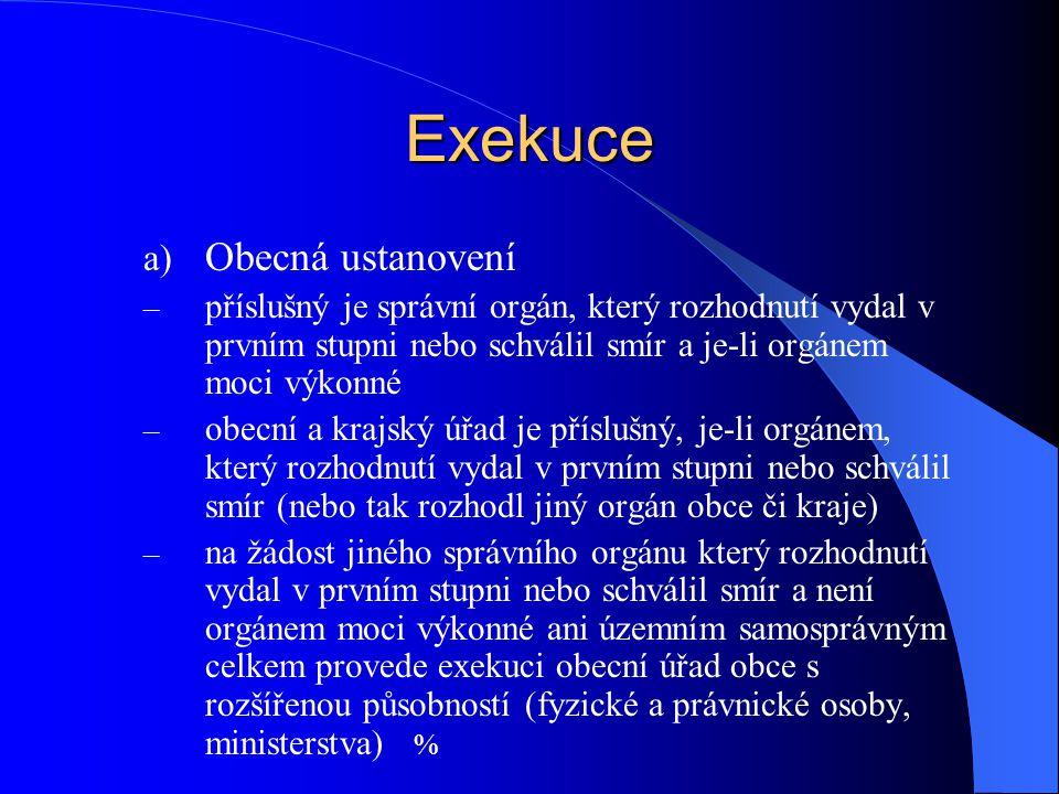 Exekuce Obecná ustanovení