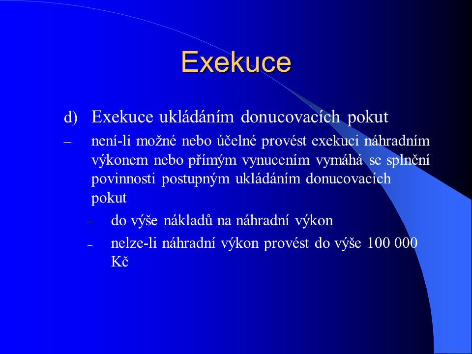 Exekuce Exekuce ukládáním donucovacích pokut